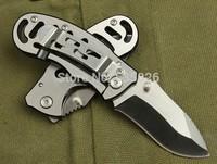 2PCS/LOT, New Mini OEM Survival Folding Knife,3Cr13 Blade Steel Handle Outdoor Pocket Knife,Camping Multi Tool.On Sales DA2