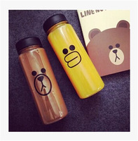 "500 ml Korea style new design Today`s special My bottle with "" sally Chicken""Or"" Brown Bear"" and a gift bag"