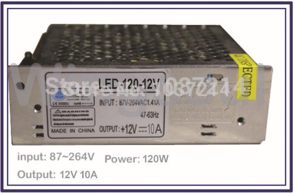 Quality LED transforer, LED strip power, Input 87V~264VAC, output 12V DC, 10A, 120W, transformer(China (Mainland))