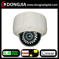DA-IP8616TDFZ 2.8-12mm zoom lens zoom&focus Motorized zoom lens 5 megapixel ip vandalproof dome camera