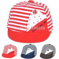 Newborn Baby Hat Striped Boys Cotton Baseball Beret Cap Infant Summer Sun Hats Children Accessories 5pcs SW041
