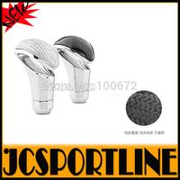 Free Shipping Universal carbon fiber + alloy Auto Car Gear Shift Knob & Gear stick head