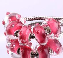 F263 5PCS Free Shipping Murano Glass Beads 925 silver cord fit European Pandora Jewelry Braclet Charms DIY /iigaqzna fyzaoqga
