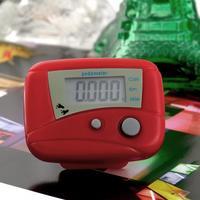 1pcs Red Digital LCD  Clip-on Run Step Run Pedometer Walking Calorie Counter Distance