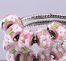F305 5PCS Free Shipping Murano Glass Beads 925 silver cord fit European Pandora Jewelry Braclet Charms DIY /ijwarbda gapaorwa