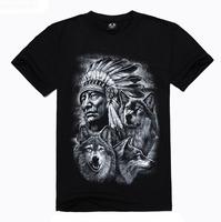 Men T-shirt cotton short sleeved T-shirt Mens creative Indian 3D T-shirt  TX-YDA2