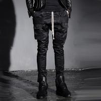 Free shipping... The British punk man pocket decoration personality casual pants Haren pants