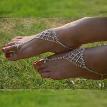 Women sexy rhinestone barefoot sandals foot bracelet Bridal accessories jewelry foot bracelet beach foot jewelry 109305