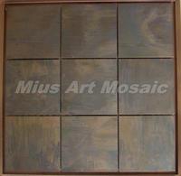 [Mius Art Mosaic] Big square Copper tile in bronze brushed for kitchen backsplash wall tile E9T6020