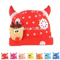 New Spring Baby Hat Reindeer Design Infant Cotton Beanies Cap Children Accessories X Xmas Cap 5pcs SW034
