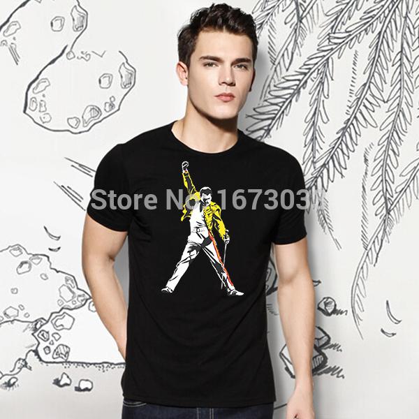 Freddie Mercury Tribute Victory T-Shirt Cotton Leisure Funny New Fashion Brand Cheap T-Shirt Designs For Men(China (Mainland))