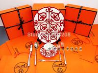 Brand Western European porcelain dinner plate set tea cup set house warming present