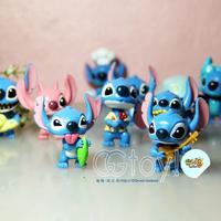 2015 New 10pcs/set Stitch and Lilo & Stitch doll 10 models designed for bulk Creative Toy ornaments