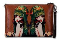Women's retro Clutch bags Messenger bags fashion printed pattern handbags ladies shoulder bags 2015 new