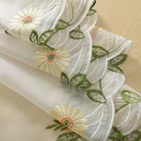high quality Rustic anode-screening balloon daisy luxury curtains yarn balcony american decorative window curtain yarn