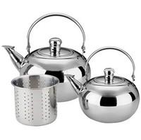 18cm Stainless steel filter mesh exquisite pot belt teapot tea pot tea-urn