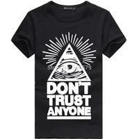 Don't Trust Anyone Eye T Shirts Men Cotton O Neck Man T-Shirt Short Sleeve Mens tshirt Euro Size Tops Tee Shirt Free Shipping