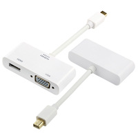 Hot Sale 2015 2 In 1 Mini Display Port DP HDMI Cable To VGA Adapter Connector To Hdmi Line Wire For Apple For MacBook Air Pro