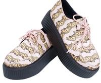 2015 Size 35-39 Harajuku Style Women Retro Lemon Strawberry Trifle Platform Student Sweet Sneakers 2434
