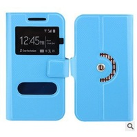 new arrival free shipping quality flip leather phone case for Alcatel One Touch Idol 3 (4.7) case with open window 2H
