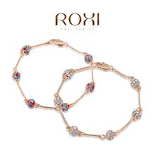 ROXI fashion women heart bracelets,gold plated women jewelry,Austrian crystal,wedding/birthday/Chrismas gifts,party bracelets,(China (Mainland))
