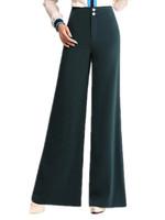 Free Shipping 2015 Spring Summer Ol women's Euro Wide Leg Pants,High Waist  womens trouser suit  Big size 27-34