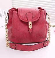 2015 new Women handbag retro matte leather bucket Cross- body bag candy color small portable shoulder Messenger bag Day Clutches