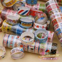 2015 Scrapbooking Tools Tape Scotch Scrapbooking 10pcs/lot Wholesale Cute Hot-selling Cartoon Multicolour Diy 4g 3 Meters Long