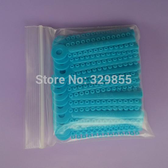 NEW 2 Packs 2080 Pcs Ligature Ties Orthodontics Elastic Elastomeric Bands Braces Light Blue Color Free Shipping(China (Mainland))