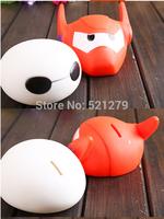 Free shipping 12pcs/lot Baby Big Hero Figure Toy Model/ Children Big Hero 6 Money Boxes/Kids Cute Baymax Saving Pot Piggy Bank