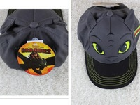 Retail New arrival Dragons 2 Night Fury baseball caps, children topee occasional toothless Cap 22CM FREE SHIPPING