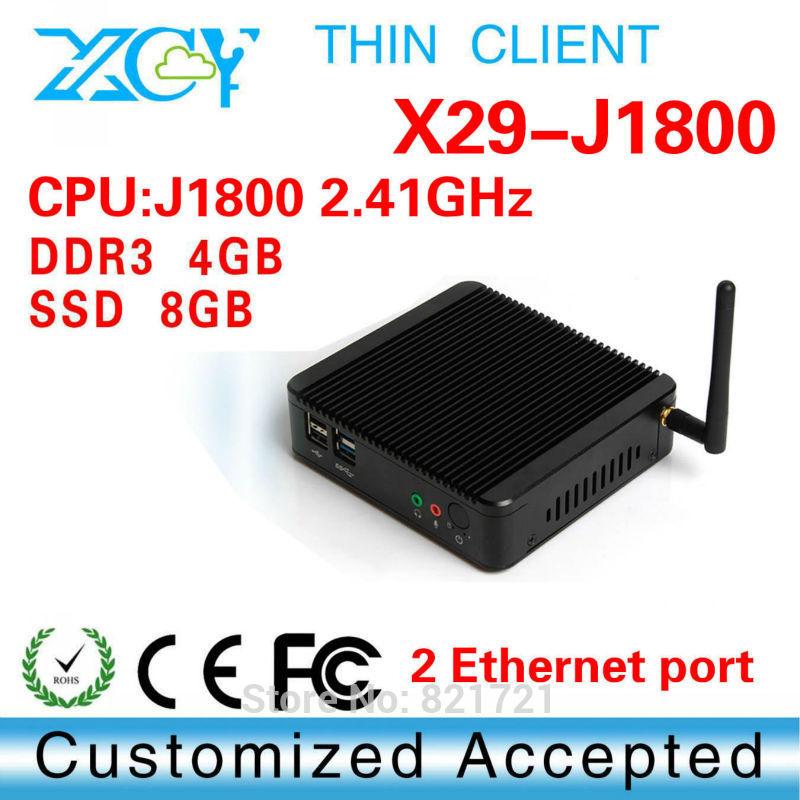Fanless PC Desktop Computer Mini ITX Casing HTPC Intel Quad Core J1800-2 with Windows 7/8 XBMC 4GB DDR3 8G SSD WiFi Mini PC(China (Mainland))