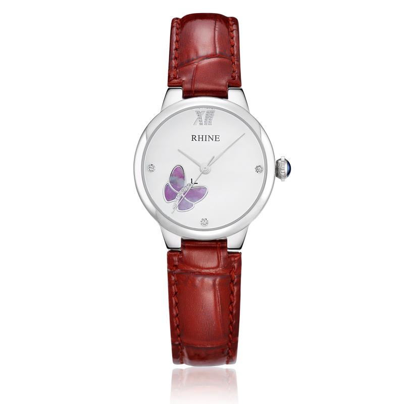015 Top Fashion New Arrival Hardlex Reloj Rhine Counter Genuine Leather Belt Quartz Fashion Watch Waterproof Students Damen Ms.(China (Mainland))