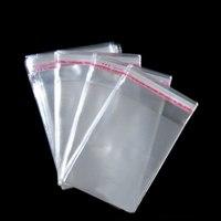 Wholesale 50 Pcs/Transparent Plastic Bag The Trumpet OPP Self-adhesive Bag Packaging Bag Jewelry Bag Gift Bag 1 Pcs/Lot