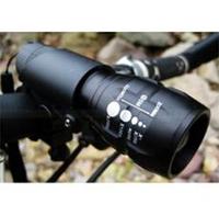 (telescopic flashlight) 00222 bright LED flashlight / telescopic focusing flashlight / LM zoom flashlight / bicycle elec