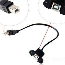 SoMagic  30cm USB 2.0 B Male to USB B Female Socket Printer Panel Mount Cable