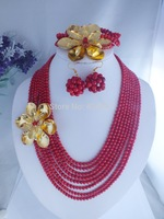 F0094Come  see!! Wedding Gift Popular gold and red  Coral