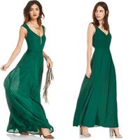 HDY15151A262  New 2015 Spring Summer Women Bohemian Dress Slim Sleeveless Sexy  Pleated Chiffon Dresses  Femininas Vestidos