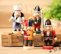 4Piece/lot 2015 Cute 10CM The Nutcracker Soldier Puppet Zakka Home Furnishing Ornaments Kids Gift  2295