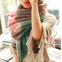 Winter Scarf Fashion Wool Spain Desigual Scarf Women Plaid Thick Scarves Shawl for Women 2014