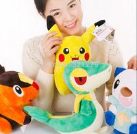 Free shipping 4pcs/lot Pokemon Pikachu Oshawott Snivy Tepig Pokemon Doll For Children's Gift Pokemon toys