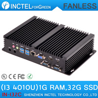 Fanless Mini Industrial PC with Intel i3 4010u processor 2 COM 4 USB3.0 1G RAM 32G SSD all windows linux supported