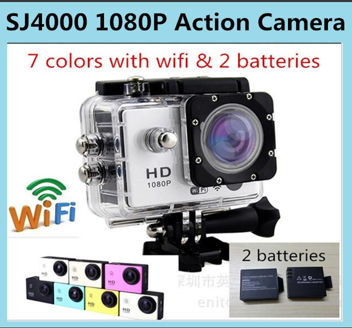 Genuine mini camcorders gopro hero 3 Full HD DVR SJ4000 video Sport go pro camera extreme Sport Helmet Action Camera 2 battery(China (Mainland))