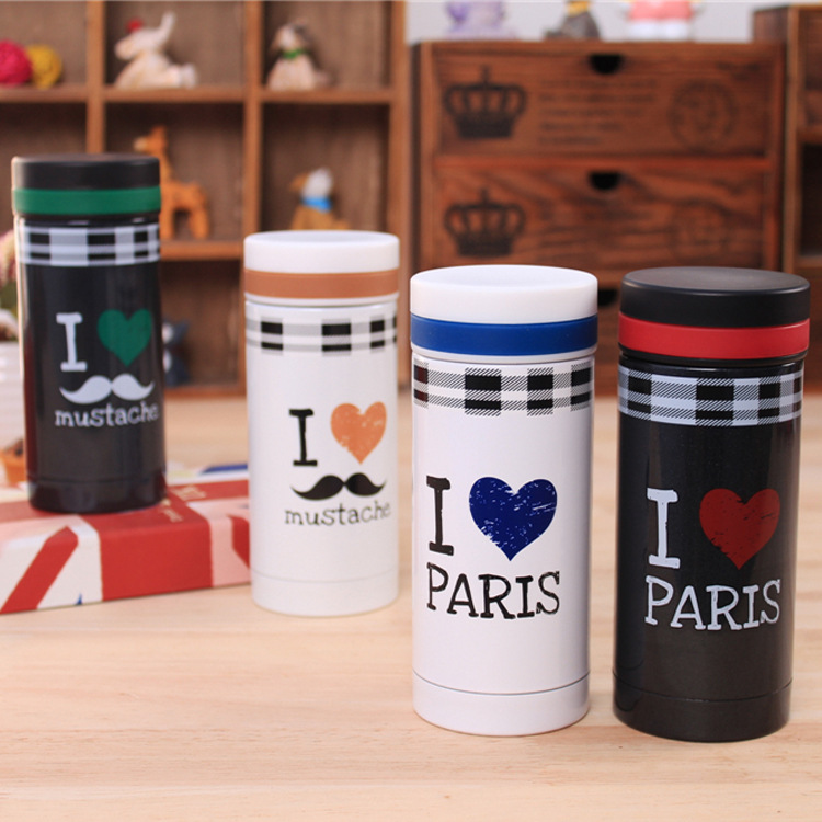 Mug clearance processing black and white classic stainless steel vacuum cup wholesale special clearance &glass(China (Mainland))