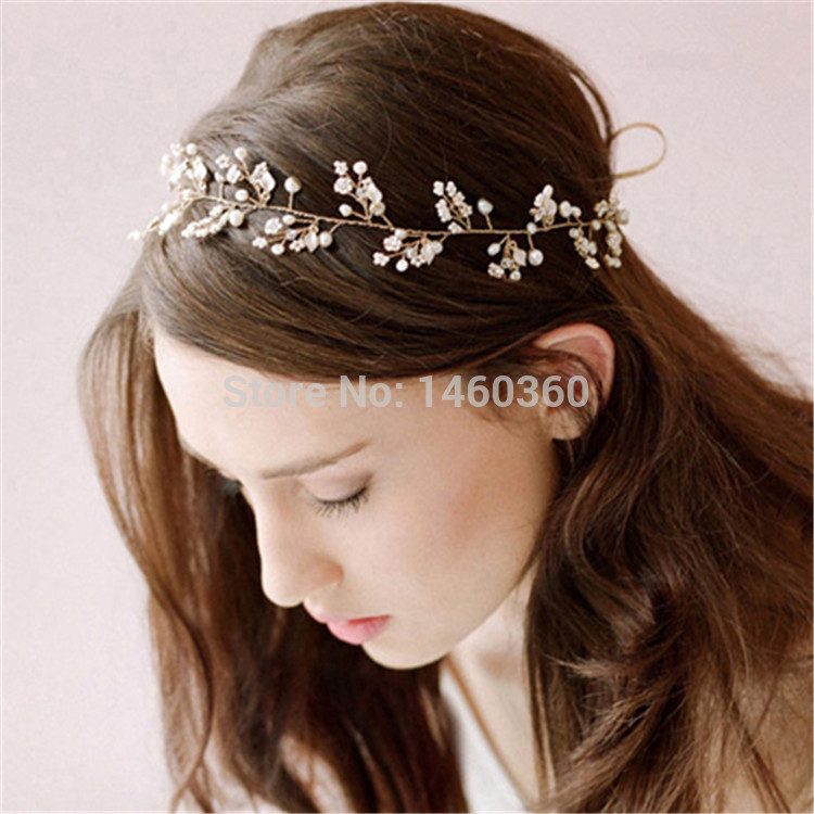 [해외]hairstyle braider gold crown wedding rhinestone tiar..