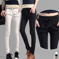 Women Pants 2015 Spring New Pants Solid Color Drawstring Elastic Slim Full Length Casual Regular Blend Cotton Harem pants
