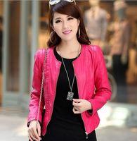 2015 Casual coat spring 2015 leather jacket women plus size M-3XL-5XL leather clothing lady coat fashion OL jacket  women coat