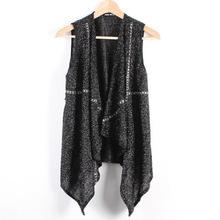2015 Men chiffon vest In the long section Chiffon Vest Jacket Collarless Asymmetric hem Vest tops M - XXL wj365(China (Mainland))
