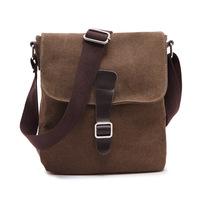 Korean style bag men casual canvas bag  Shoulder Bag and Messenger Bag Black and Brown