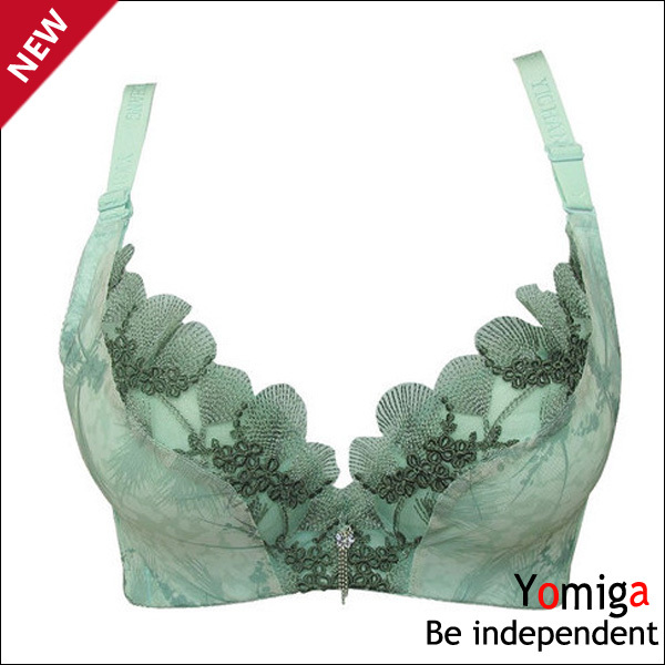 New blue lift lace intimates C cup sexy bra tops wholesale womens plus size fashions bra lingerie super push up bra underwear(China (Mainland))
